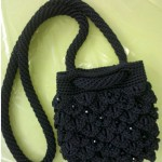 Black beaded purse