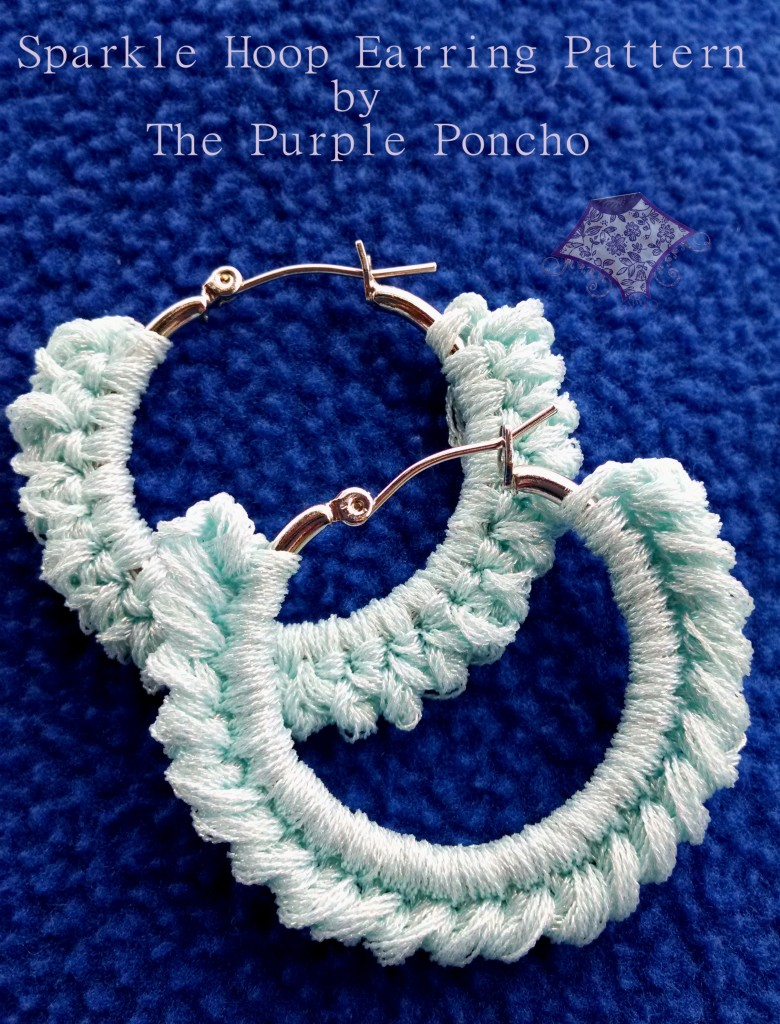 Sparkle Hoop Earring Pattern by The Purple Poncho June 2014