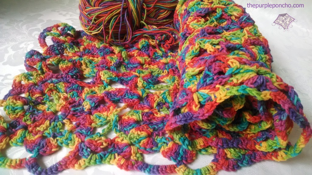 Colorful Shawl - must weave in those ends asap.