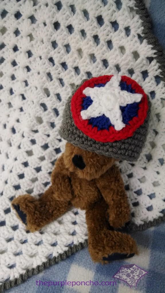 Mini Granny Blanket & Star hat set for a boy.