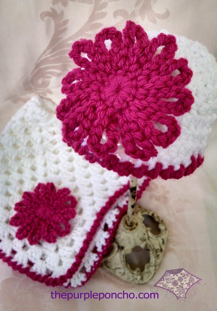 Mini Granny Blanket & Hat Set
