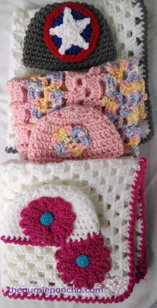 Project Sweet Peas - blanket & hat sets