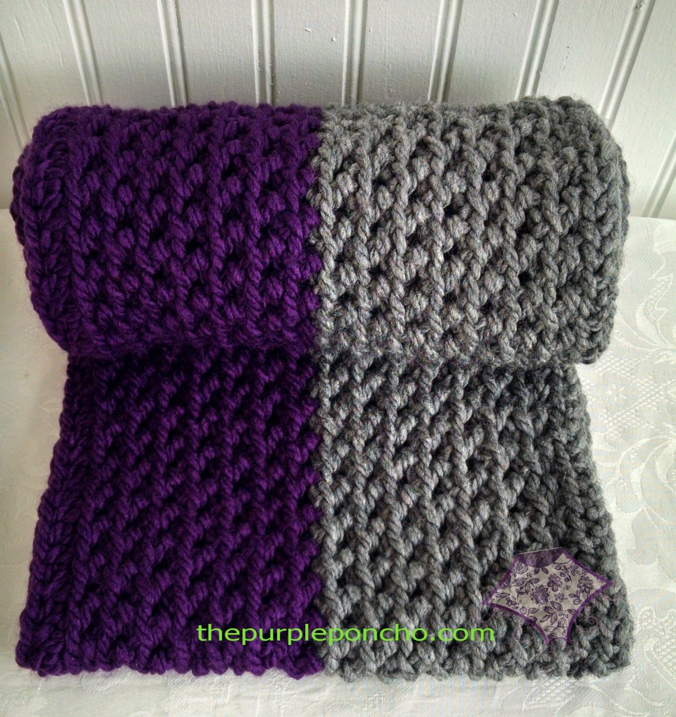Color Block - Herringbone Infinity Scarf by The Purple Poncho A Free Crochet Pattern