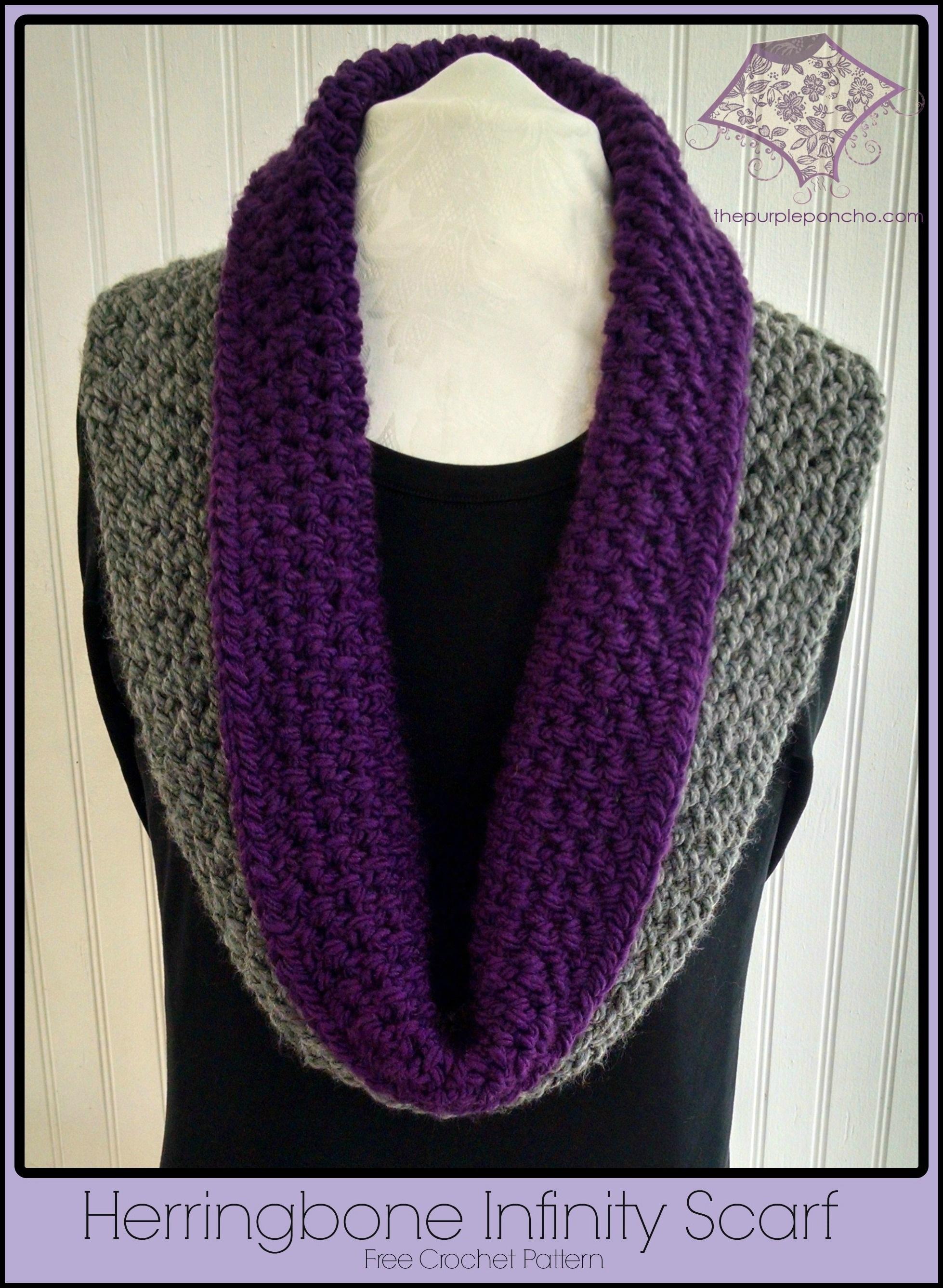 Herringbone Infinity Scarf A Free Crochet Pattern The ...