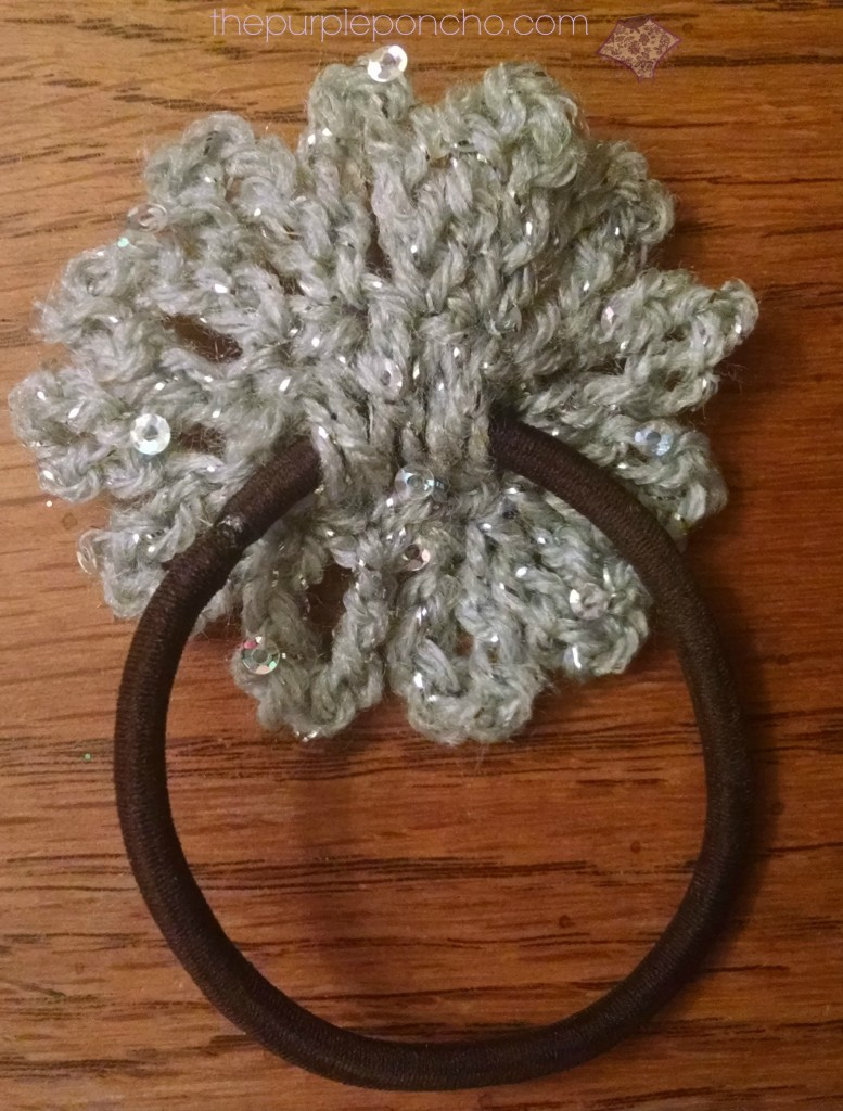 Sparkle Flower Hair Accessory -  Free Pattern