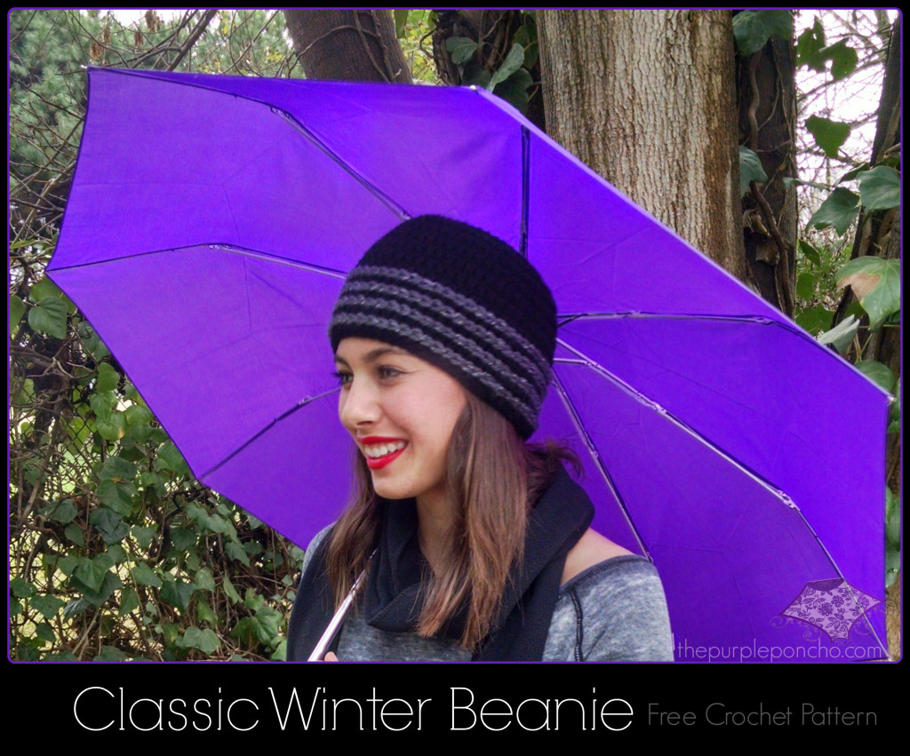 Classic Winter Beanie Featuring Red Heart Yarns