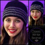 Classic Winter Beanie – Free Crochet Pattern