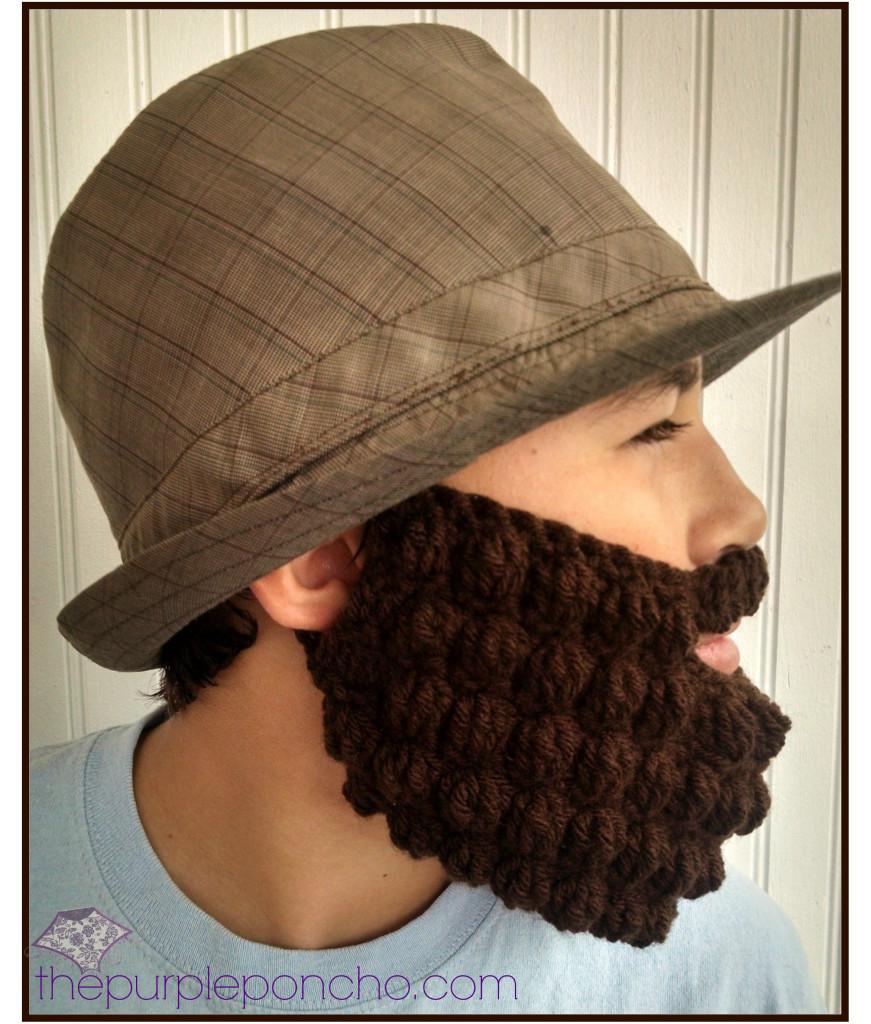 Crochet Bobble Beard Hat Pattern ~ Dancox for .