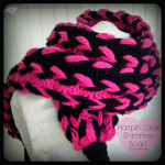 Hairpin Lace Shimmer Scarf – A Free Crochet Pattern