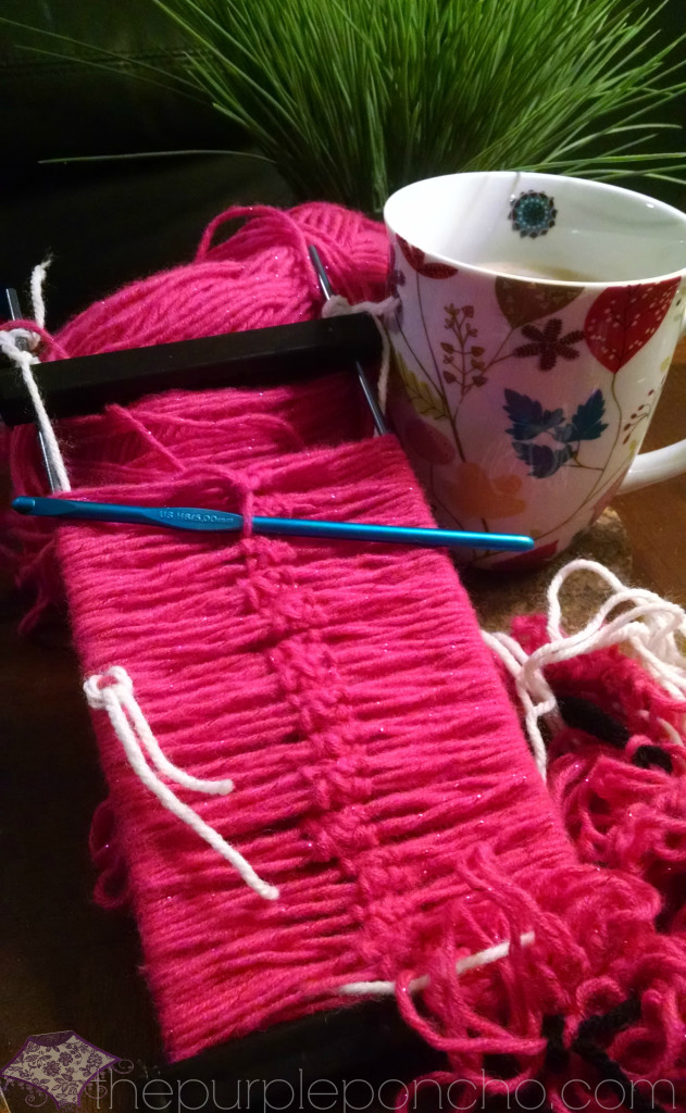 Hairpin Lace on the Loom by The Purple Poncho