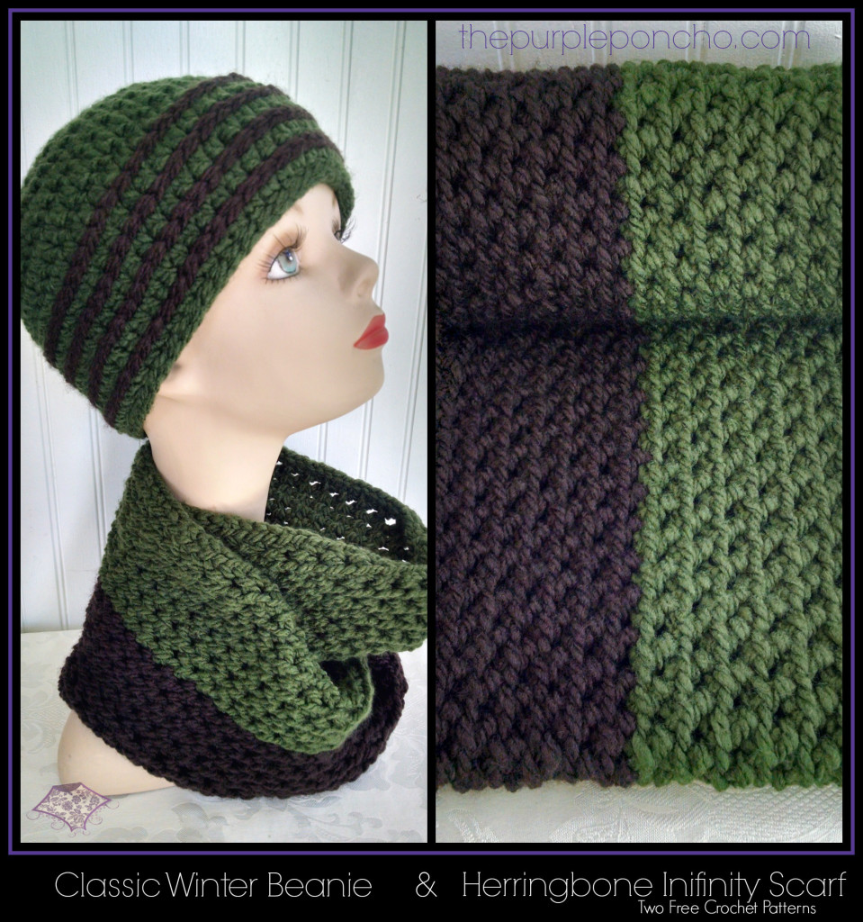 Favorite hat scarf set two free crochet patterns the purple favorite hat scarf set two free crochet patterns the purple poncho bankloansurffo Image collections
