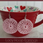 Lacy Hoop Earrings A Free Crochet Pattern