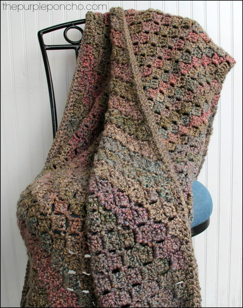 Crochet Corner-to-Corner Throw by The Purple Poncho