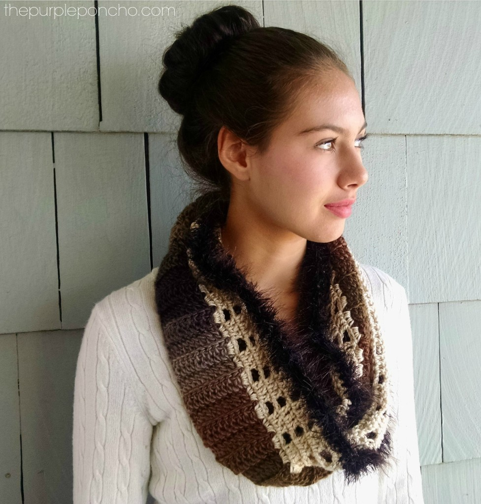Autumn & Lace Infinity Scarf