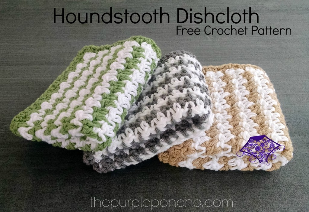 The houndstooth stitch is so full of texture and interest. I love this ...