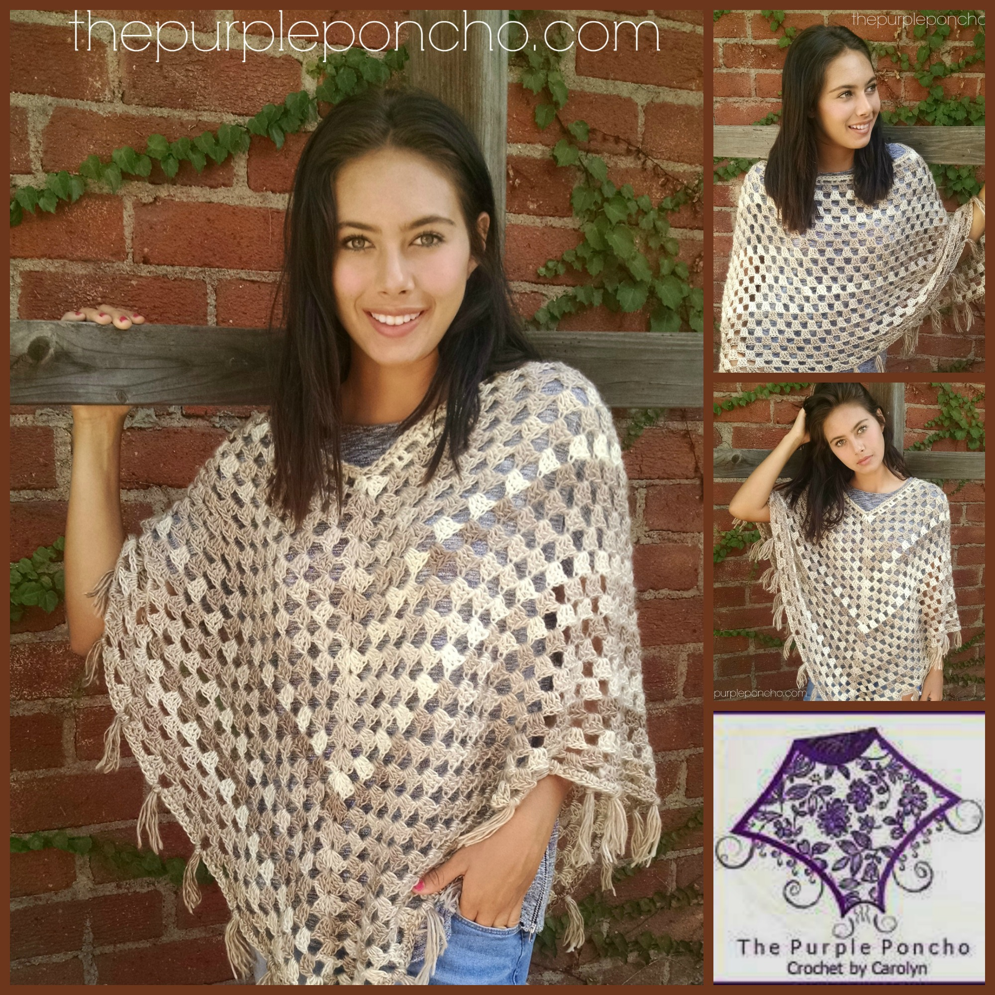Bohemian Poncho Free Crochet Pattern : Timeless Boho Poncho ? Free Crochet Pattern ? The Purple ...
