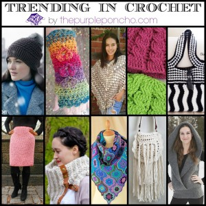 Trending in Crochet - Party #6 The Purple Poncho