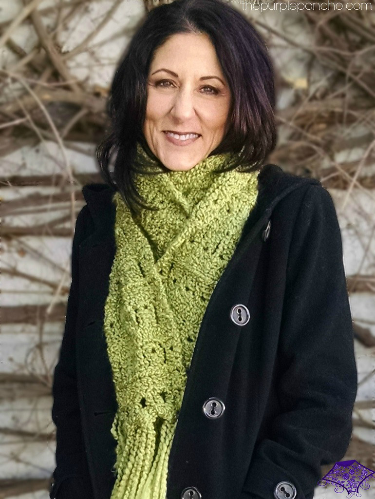 Cozy Broomstick Lace Scarf