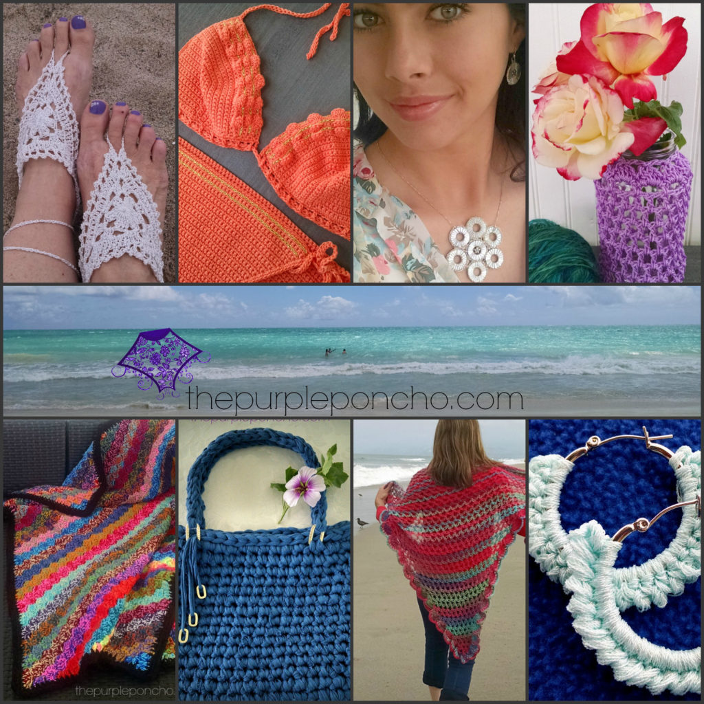 Summertime Crochet Patterns by thepurpleponcho.com