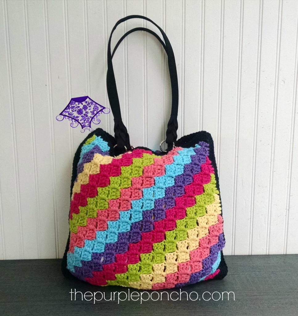 C2C Crochet Tote Bag