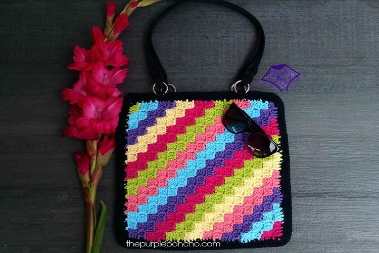 Crochet Tote Bag Tutorial Part 1 : C2C Crochet Tote Bag Pattern ? The Purple Poncho
