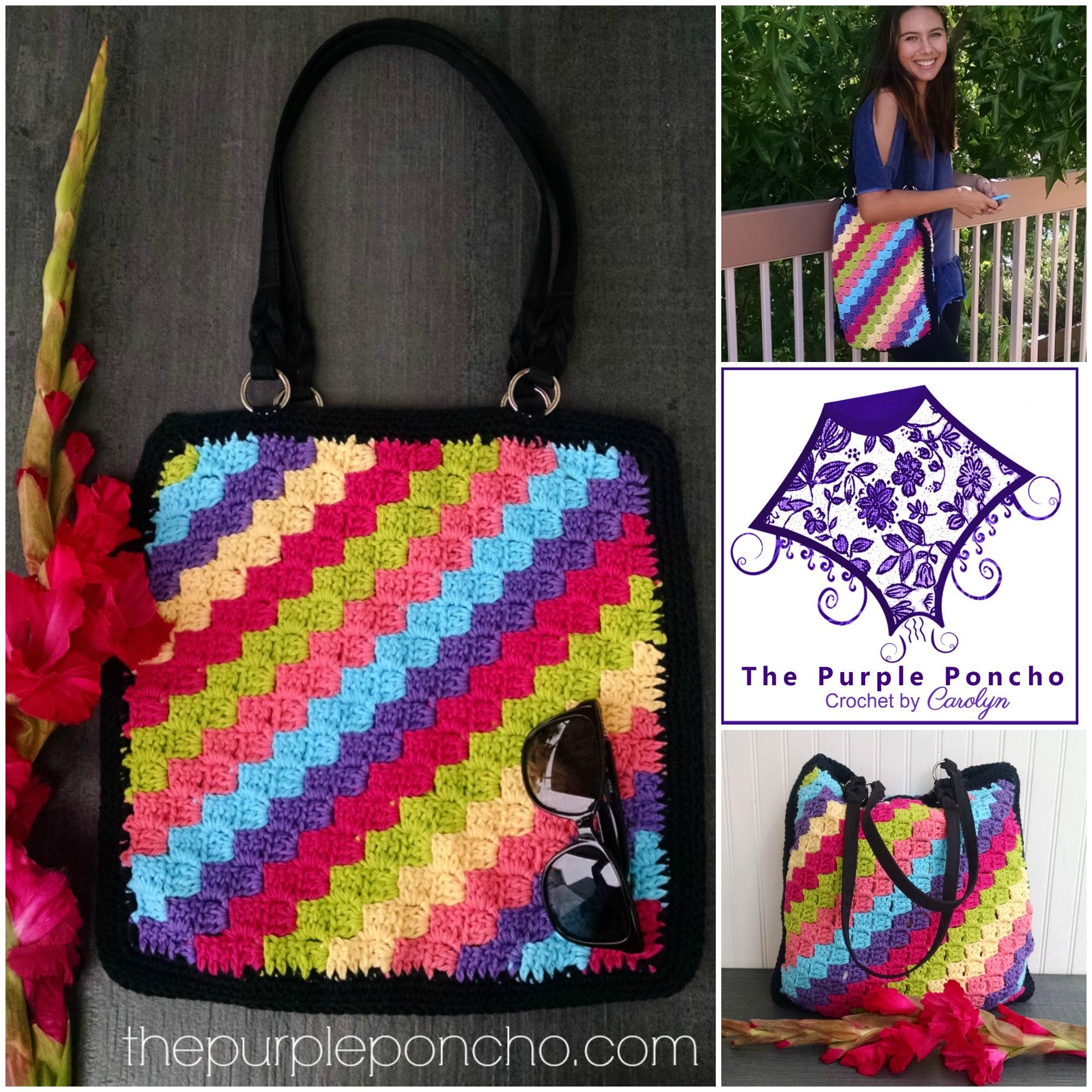 C2C Tote Bag Crochet Design by Carolyn Calderon