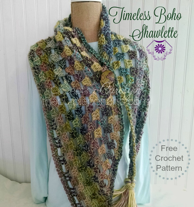 Timeless Boho Shawlette ? Free Crochet Pattern ? The ...