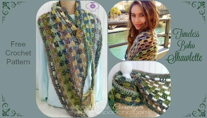 Bohemian Poncho Free Crochet Pattern : Timeless Boho Shawlette ? Free Crochet Pattern ? The ...