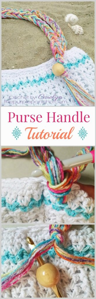 Crochet Bag Handle Tutorial : Crochet Purse Handle With Beads And Fringe Tutorial ? The ...