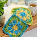 Tropical Flower Scrubby – Free Crochet Pattern
