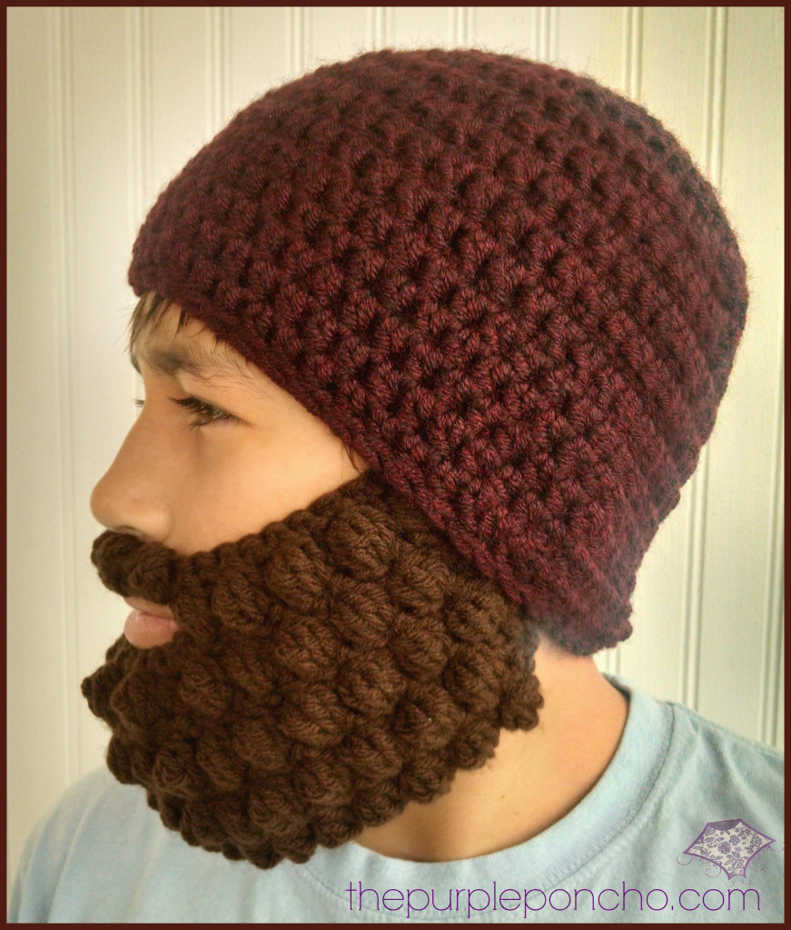 c6e24c3d6d5 Crochet Bobble Beard Review - Free Pattern - The Purple Poncho