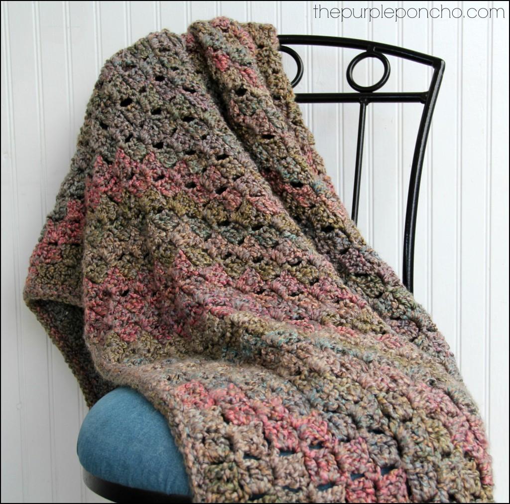 Crochet Corner To Corner Throw With Rope Edging Free