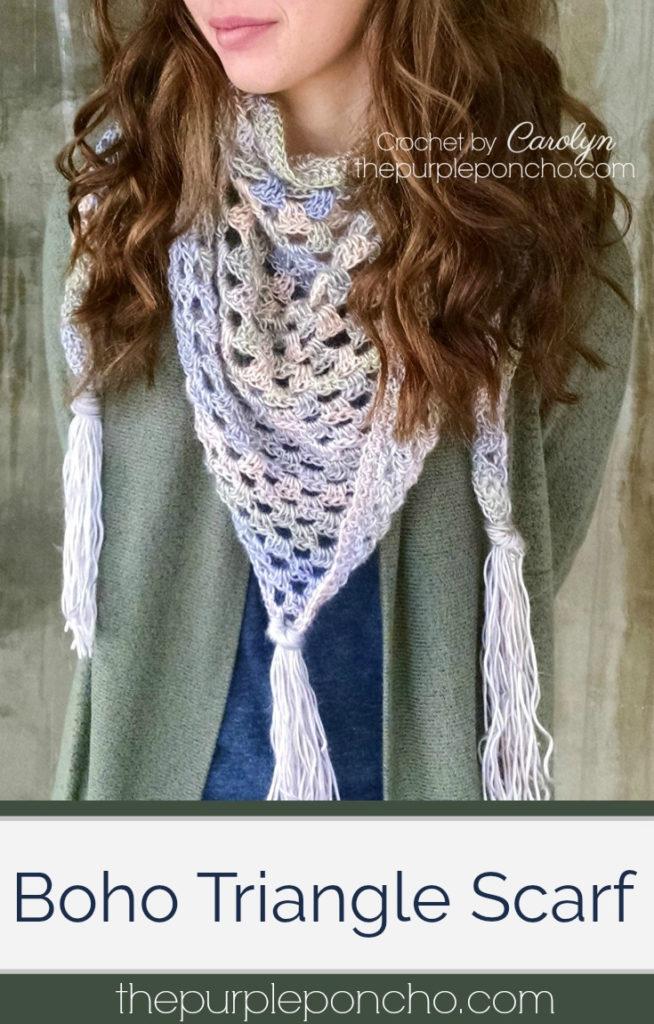 Crochet A Triangle Scarf