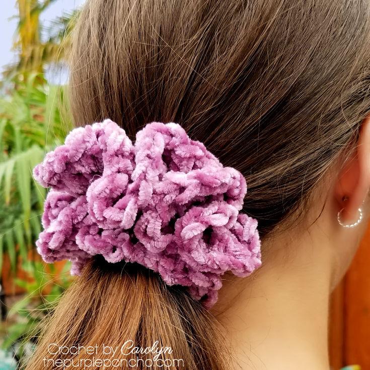 Hand Made Crochet Cheveux Scrunchy