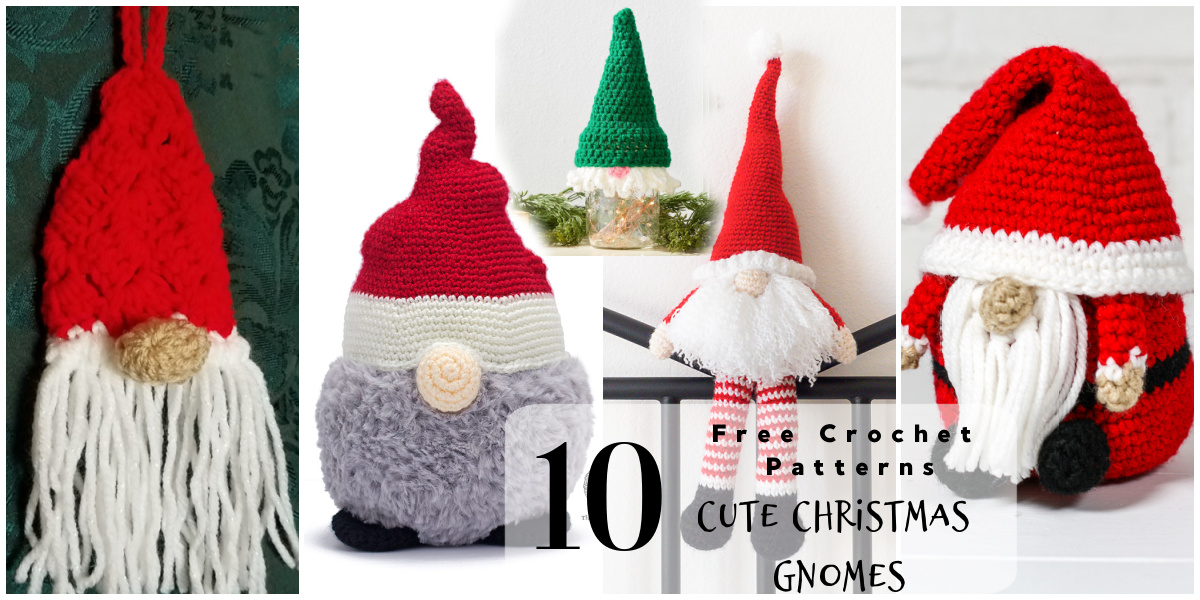 Crochet Christmas Gnome Pattern Round Up The Purple Poncho